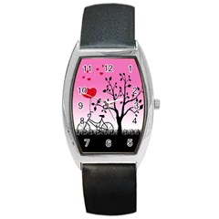 Love Sunrise Barrel Style Metal Watch by Valentinaart