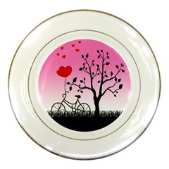 Love Sunrise Porcelain Plates by Valentinaart