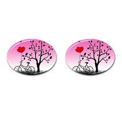 Love Sunrise Cufflinks (oval) by Valentinaart