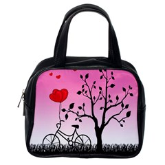 Love Sunrise Classic Handbags (one Side) by Valentinaart