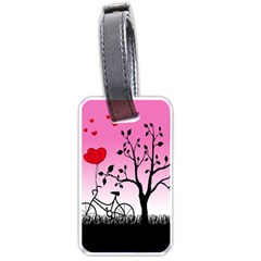 Love Sunrise Luggage Tags (one Side)  by Valentinaart