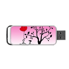 Love Sunrise Portable Usb Flash (one Side) by Valentinaart