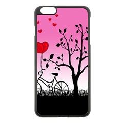 Love Sunrise Apple Iphone 6 Plus/6s Plus Black Enamel Case