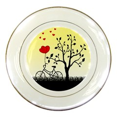 Romantic Sunrise Porcelain Plates by Valentinaart
