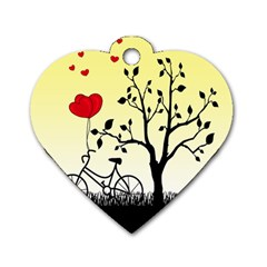 Romantic Sunrise Dog Tag Heart (one Side) by Valentinaart