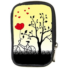 Romantic Sunrise Compact Camera Cases by Valentinaart