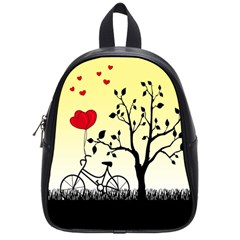 Romantic Sunrise School Bags (small)  by Valentinaart