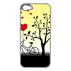 Romantic Sunrise Apple Iphone 5 Case (silver) by Valentinaart