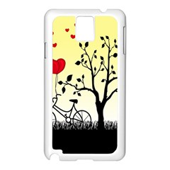 Romantic Sunrise Samsung Galaxy Note 3 N9005 Case (white) by Valentinaart