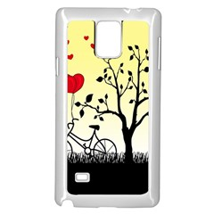 Romantic Sunrise Samsung Galaxy Note 4 Case (white) by Valentinaart