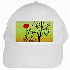 Love Sunrise White Cap by Valentinaart