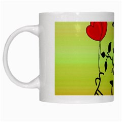 Love Sunrise White Mugs by Valentinaart