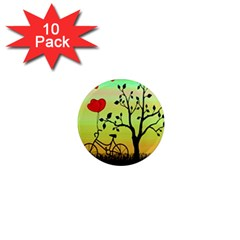 Love Sunrise 1  Mini Magnet (10 Pack)