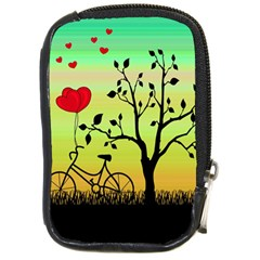 Love Sunrise Compact Camera Cases by Valentinaart