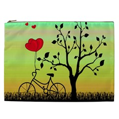 Love Sunrise Cosmetic Bag (xxl)  by Valentinaart