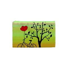 Love Sunrise Cosmetic Bag (xs) by Valentinaart