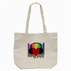 Music Tote Bag (cream) by Valentinaart