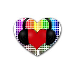 Music Rubber Coaster (heart)