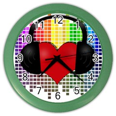 Music Color Wall Clocks by Valentinaart