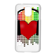 Music Samsung Galaxy S5 Case (white) by Valentinaart