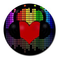 Love Music Round Mousepads