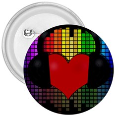 Love Music 3  Buttons by Valentinaart