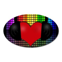 Love Music Oval Magnet by Valentinaart