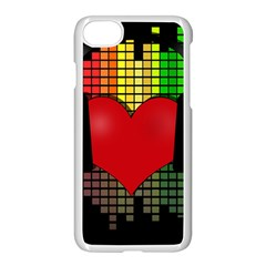 Love Music Apple Iphone 7 Seamless Case (white) by Valentinaart