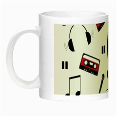 Music Pattern Night Luminous Mugs by Valentinaart