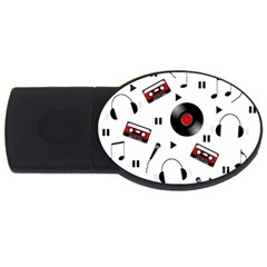 Music Pattern Usb Flash Drive Oval (4 Gb)
