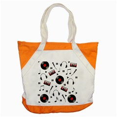 Music Pattern Accent Tote Bag by Valentinaart