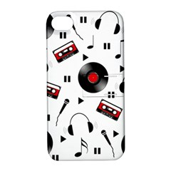 Music Pattern Apple Iphone 4/4s Hardshell Case With Stand by Valentinaart