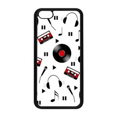 Music Pattern Apple Iphone 5c Seamless Case (black) by Valentinaart