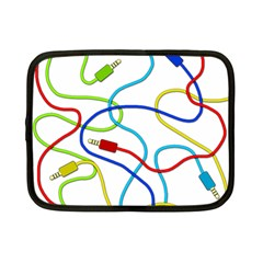 Colorful Audio Cables Netbook Case (small)  by Valentinaart