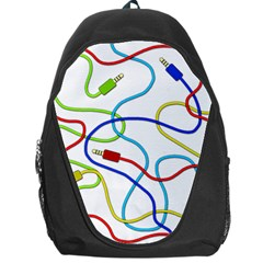Colorful Audio Cables Backpack Bag
