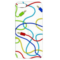 Colorful Audio Cables Apple Iphone 5 Hardshell Case With Stand by Valentinaart