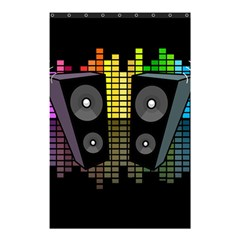 Loudspeakers  Shower Curtain 48  X 72  (small)  by Valentinaart