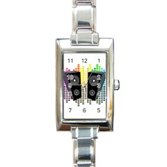 Loudspeakers   Transparent Rectangle Italian Charm Watch by Valentinaart