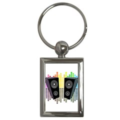 Loudspeakers   Transparent Key Chains (rectangle)