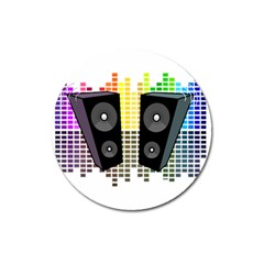 Loudspeakers   Transparent Magnet 3  (round) by Valentinaart