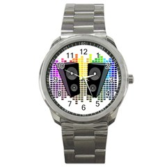 Loudspeakers   Transparent Sport Metal Watch by Valentinaart