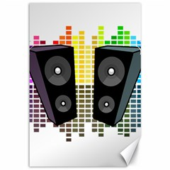 Loudspeakers - Transparent Canvas 12  X 18   by Valentinaart