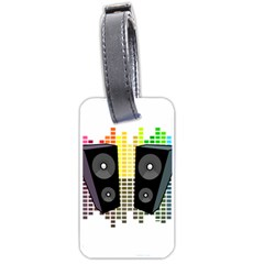 Loudspeakers   Transparent Luggage Tags (one Side)  by Valentinaart