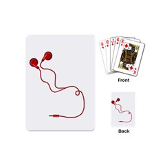 Earphones  Playing Cards (mini)  by Valentinaart