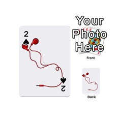 Earphones  Playing Cards 54 (mini)  by Valentinaart