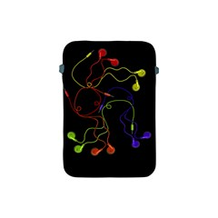 Colorful Earphones Apple Ipad Mini Protective Soft Cases by Valentinaart