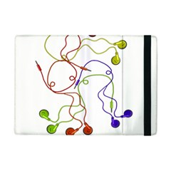 Colorful Earphones  Ipad Mini 2 Flip Cases by Valentinaart