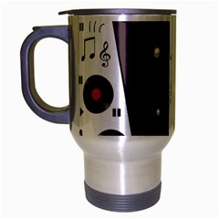 Loud Music Travel Mug (silver Gray) by Valentinaart