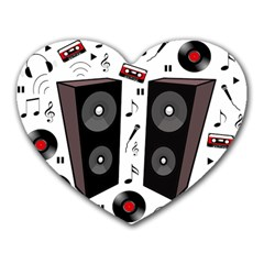 Loud Music Heart Mousepads by Valentinaart