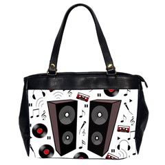 Loud Music Office Handbags (2 Sides)  by Valentinaart